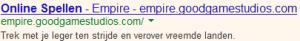 Niet effectief gebruik van hoofdletters in een AdWords advertentie