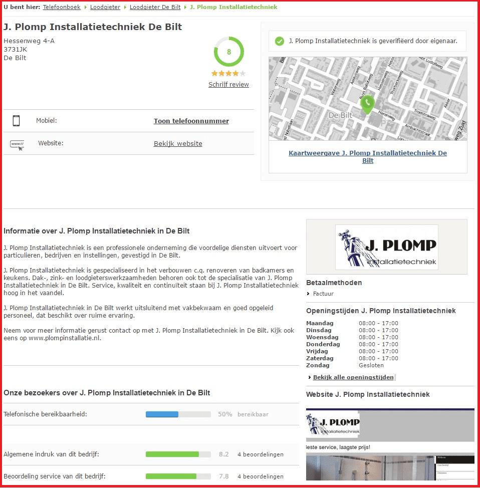 Voorbeeld lokaal bedrijfsprofiel