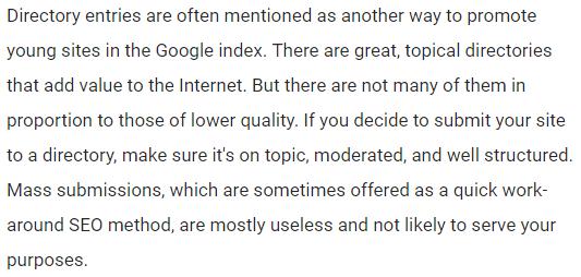 Wat Google verteld over directories