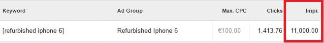 Zoekvolume refurbished iphone 6 voorbeeld