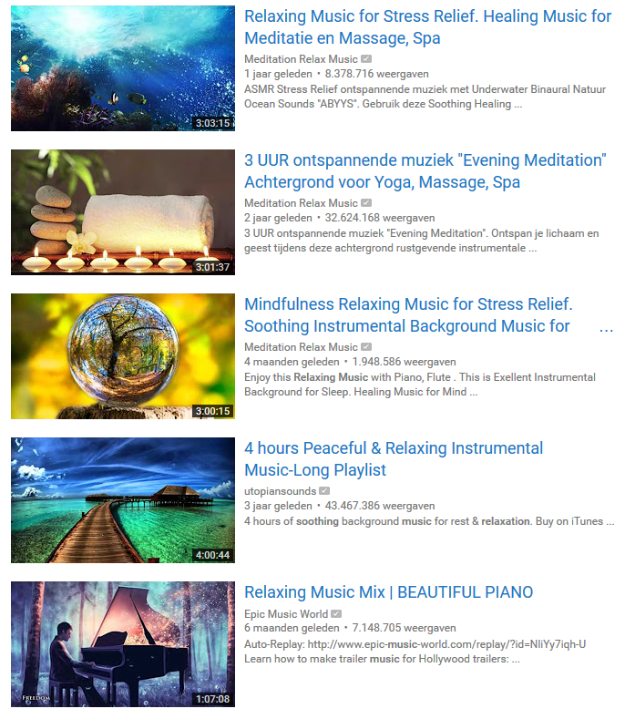 Thumbnail met felle achtergrond kleuren