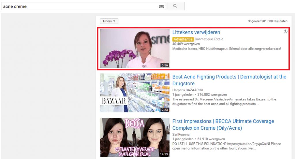 YouTube Advertentie Voorbeeld