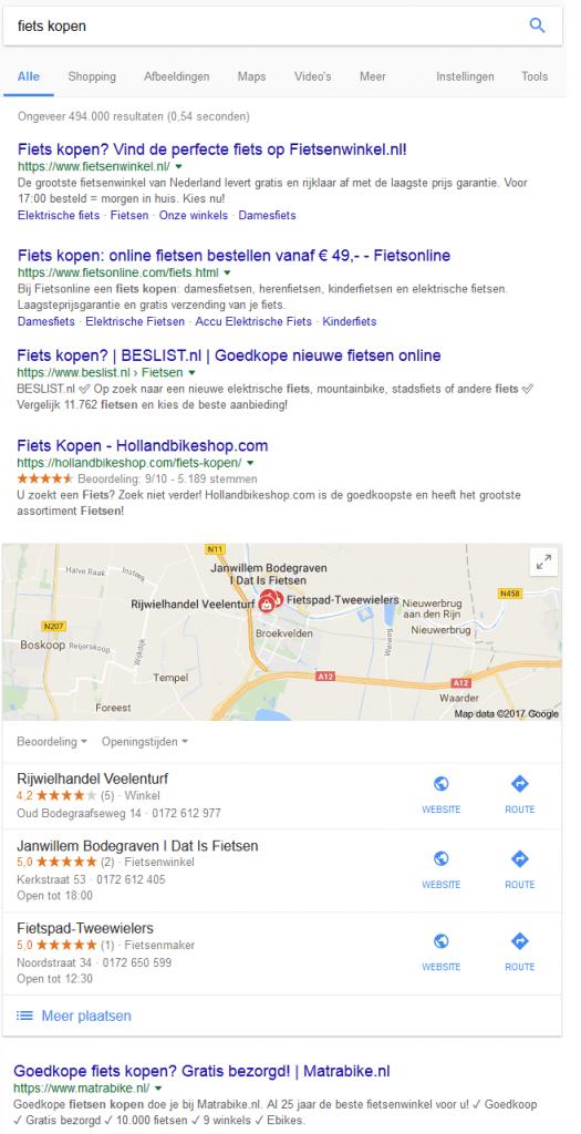 Voorbeeld Google Mijn Bedrijf Lokale Maps