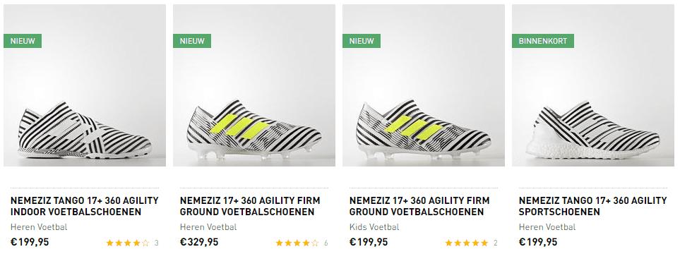 Adidas - voorbeeld schoenen
