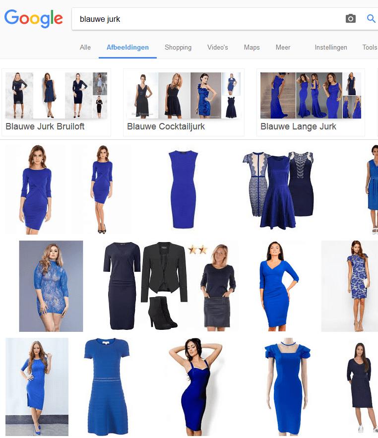 Voorbeeld Google Afbeeldingen
