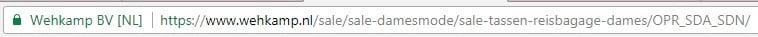 Wehkamp Sale URL