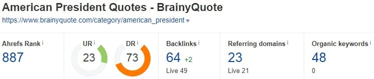 Quotes Backllinks
