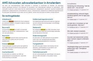 AMS Advocaten zoekwoorden voorbeeld