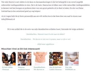 Fitbeauty.nl voorbeeld content verwijzingen