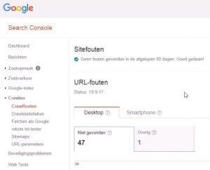 Google Search Console Crawlfouten