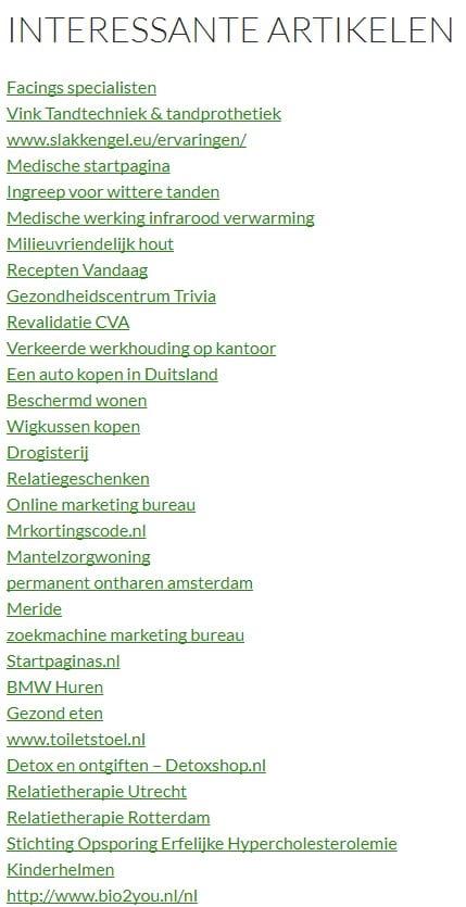 Linkpartner pagina voorbeeld via Ahrefs