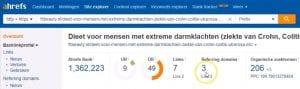 SEO Check Backlinks Via Ahrefs Backlinkchecker