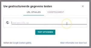 Structured Data Testen