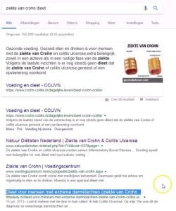 Voorbeeld Blog Ziekte van Crohn Dieet