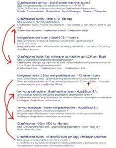 Voorbeeld Google Dans SERPS