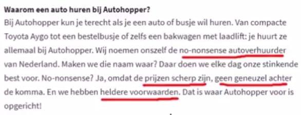 Voorbeeld no-nonsens Autohopper