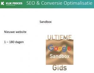 Website Zit in Google Sandbox