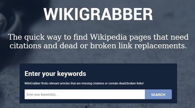 Wikipedia Linkbuilding Wikigrabber Voorbeeld