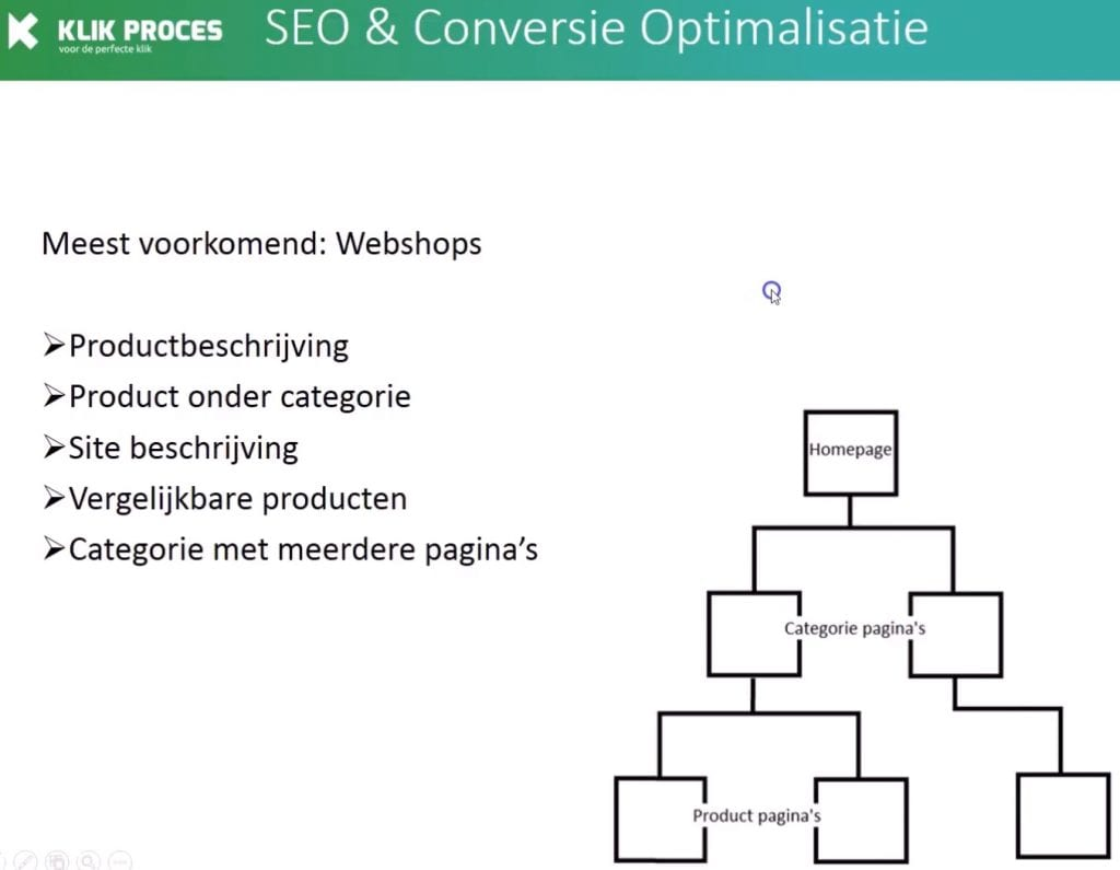 duplicate content webshops