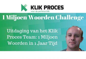 1 Miljoen Woorden Content Challenge Voorkant