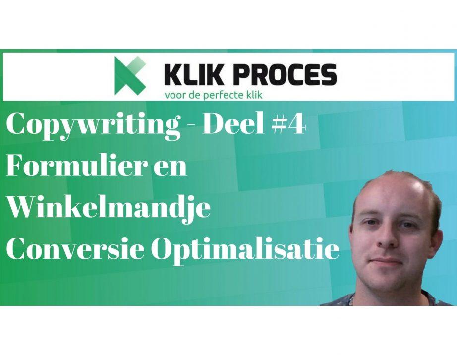 Deel #4 Copywriting - Formulier en Check-Out Proces Conversie Optimalisatie
