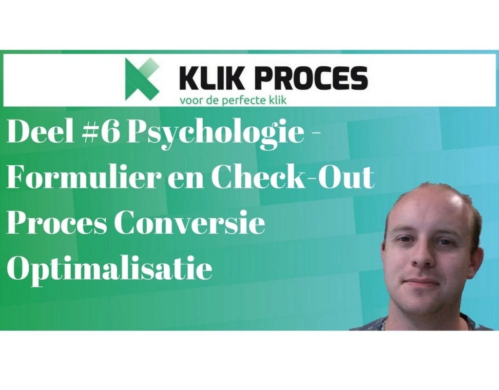 Deel #6 Psychologie - Formulier en Check-Out Proces Conversie Optimalisatie - voorkant