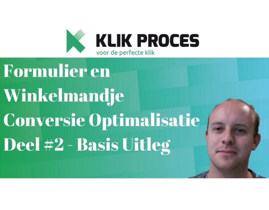 Formulier, WInkelmandje en check-out proces conversie optimalisatie deel 2 - basis uitleg 2 voorkant