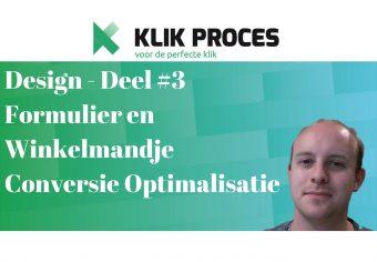 Formulier, WInkelmandje en check-out proces conversie optimalisatie deel 3 - Design YouTube Voorkant