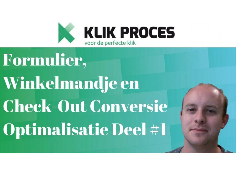 Formulier, winkelmandje en check-out conversie optimalisatie overzicht Voorkant