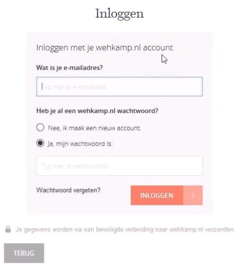 Verplicht Account Aanmaken