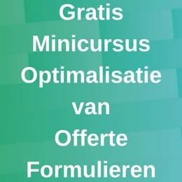 Minicursus CRO Offerte Formulier
