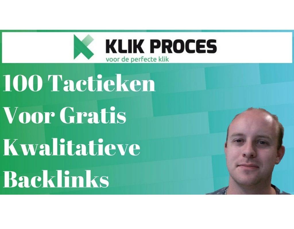 100 Tactieken Voor Gratis Kwalitatieve Backlinks voorkant