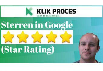 Google Star Rating - Sterren in Google voorkant