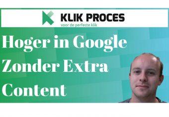 Hoger in Google Scoren, Zonder Extra Content voorkant