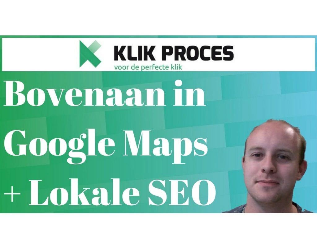 Bovenaan in Google Maps + Lokale SEO voorkant