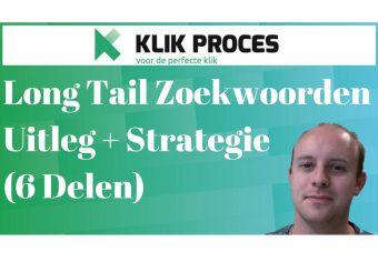 Long Tail Zoekwoorden SEO strategie en content marketing strategie voorkant