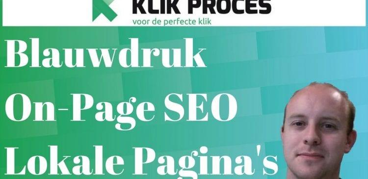Blauwdruk On-Page SEO Lokale Pagina's voorkant