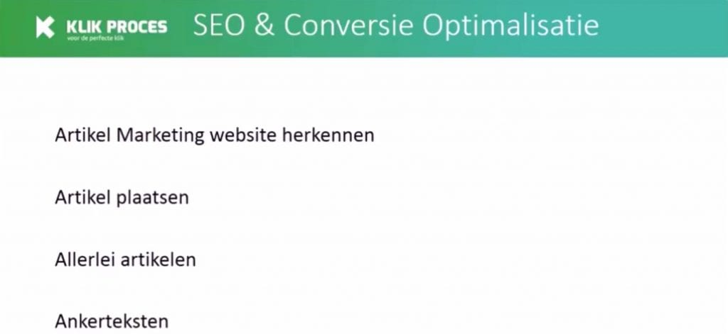 Artikel Marketing websites herkennen