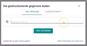 Structured Data Testen