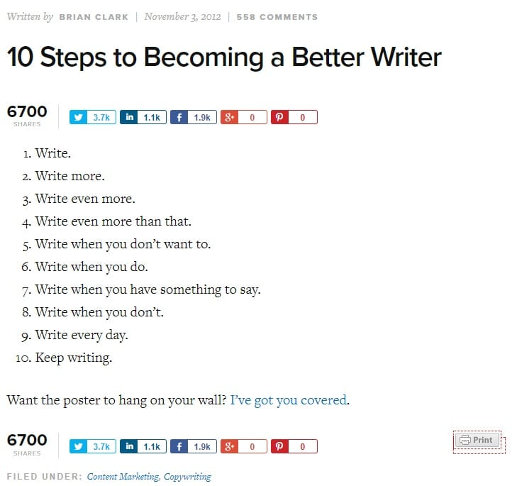 voorbeeld copyblogger become a better writer