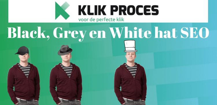 black, grey en white hat seo