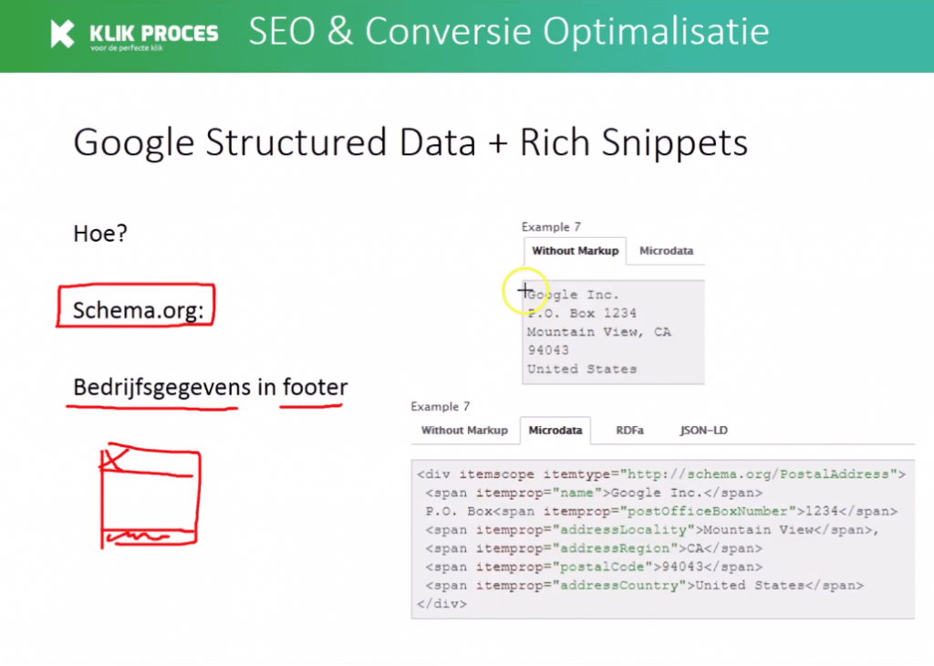 Google structured data, google rich snippets