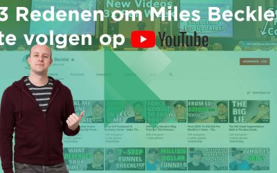 3 +3 Redenen om Miles Beckler te Volgen Via YouTube